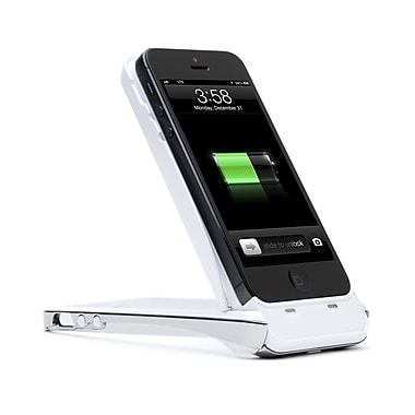 i-Blason PowerStand Rechargeable Battery Kickstand Case For iPhone 5/5S, White