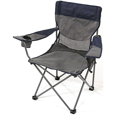 Stansport™ Apex Deluxe Arm Chair, Navy/Gray