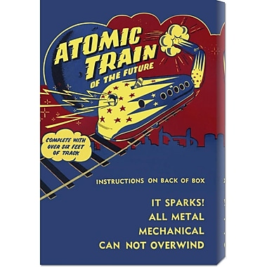 Global Gallery 'Atomic Train of the Future' by Retrotrans Vintage Advertisement on Wrapped Canvas