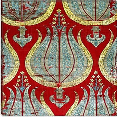 iCanvas Decorative Lampas Textile w/ Tulips Lamella Turkey Graphic Art on Canvas