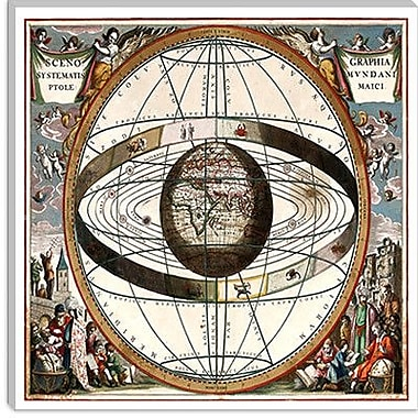 iCanvas Ptolemaic System Graphic Art on Canvas; 37'' H x 37'' W x 1.5'' D