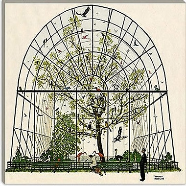 iCanvas 'The Aviary Canvas' by Norman Rockwell Painting Print on Wrapped Canvas
