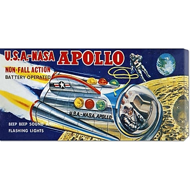 Global Gallery 'U.S.A. - NASA Apollo' by Retrobot Vintage Advertisement on Wrapped Canvas