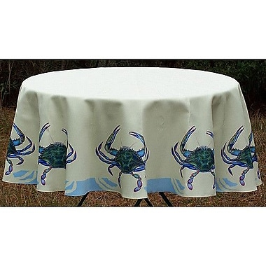 Betsy Drake Interiors Crab Tablecloth; 58'' W Round