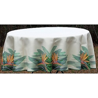 Betsy Drake Interiors Bird of Paradise Round Tablecloth; 58'' W Round