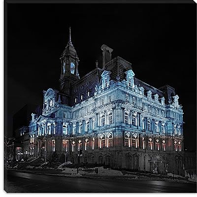 iCanvas Montreal, Canada City Hall 2 Photographic Print on Canvas; 37'' H x 37'' W x 0.75'' D