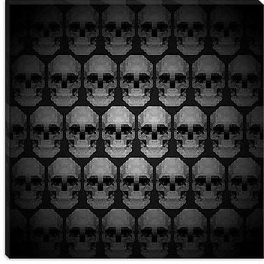 iCanvas Modern Pixilated Skulls Modern Graphic Art on Canvas; 18'' H x 18'' W x 1.5'' D