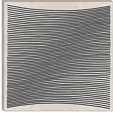 iCanvas 'Modern Wavy Lines' Graphic Art on Canvas; 26'' H x 26'' W x 1.5'' D