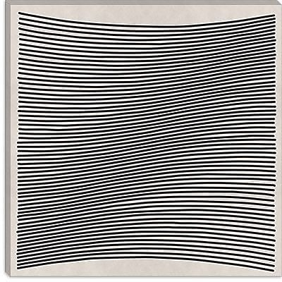 iCanvas 'Modern Wavy Lines' Graphic Art on Canvas; 37'' H x 37'' W x 1.5'' D