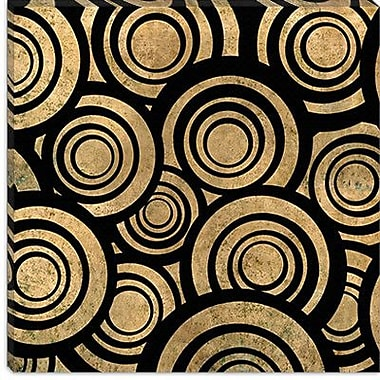 iCanvas Modern Overlapping Circle Pattern Graphic Art on Canvas; 37'' H x 37'' W x 1.5'' D