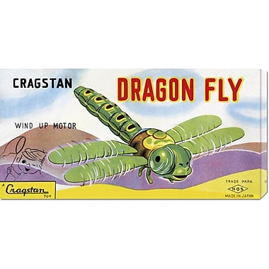 Global Gallery 'Cragstan Dragon Fly' by Retrobot Vintage Advertisement on Wrapped Canvas