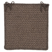 Colonial Mills Natural Wool Houndstooth Dining Chair Cushion; Cocoa