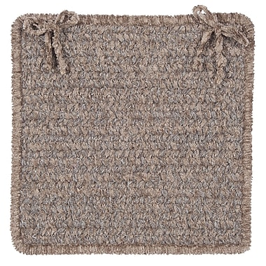 Colonial Mills Texture Woven Dining Chair Cushion (Set of 4); Rich Brown