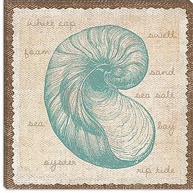 iCanvas ''Oyster'' by Erin Clark Graphic Art on Canvas; 12'' H x 12'' W x 1.5'' D
