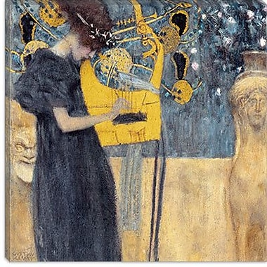 iCanvas ''Musik 1895'' by Gustav Klimt Graphic Art on Canvas; 37'' H x 37'' W x 0.75'' D