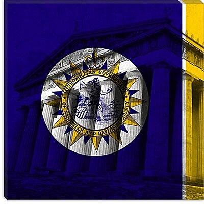 iCanvas Flags Nashville Parthenon Graphic Art on Canvas; 37'' H x 37'' W x 1.5'' D