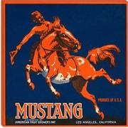 iCanvas Mustang Brand Fruit Vintage Crate Label Vintage Advertisement on Canvas