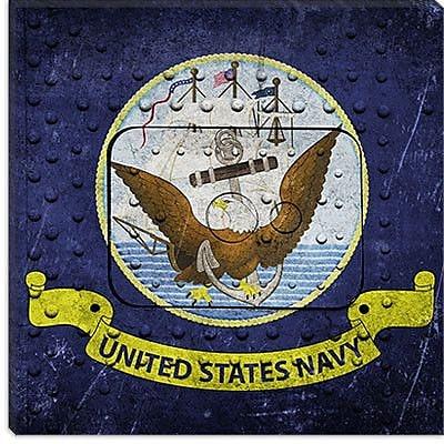 iCanvas Flags Navy Rivet w/ Lomo Film Graphic Art on Canvas; 12'' H x 12'' W x 0.75'' D