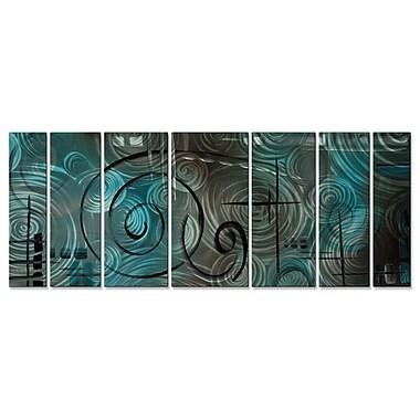 All My Walls 'Aqua Mist' by Megan Duncanson 7 Piece Graphic Art Plaque Set