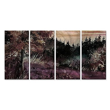 All My Walls 'Natures Hideaway' by Pol Ledent 4 Piece Painting Print Plaque Set