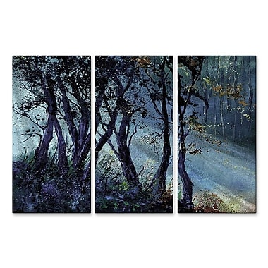 All My Walls 'Peaking Rays' by Pol Ledent 3 Piece Painting Print Plaque Set