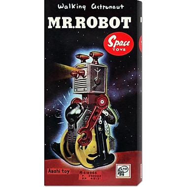Global Gallery 'Mr. Robot' by Retrobot Vintage Advertisement on Wrapped Canvas