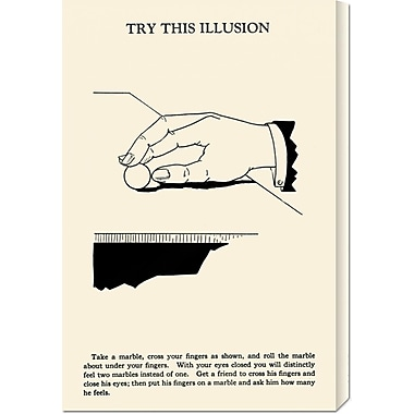 Global Gallery 'Try This Illusion' by Retromagic Vintage Advertisement on Wrapped Canvas