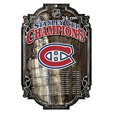 Wincraft NHL Graphic Art Plaque; Montreal Canadiens