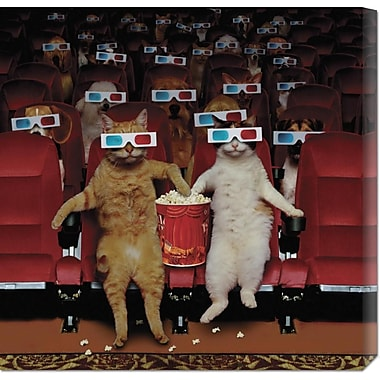 Global Gallery '3-D Movie' by John Lund Graphic Art on Wrapped Canvas