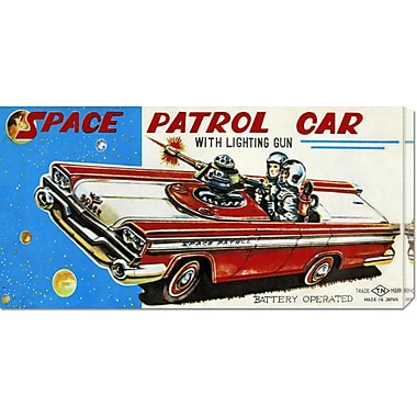 Global Gallery 'Space Patrol Car' by Retrotrans Vintage Advertisement on Wrapped Canvas