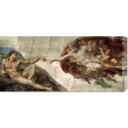 Global Gallery 'Creation of Adam (Detail)' by Michelangelo Painting Print on Wrapped Canvas