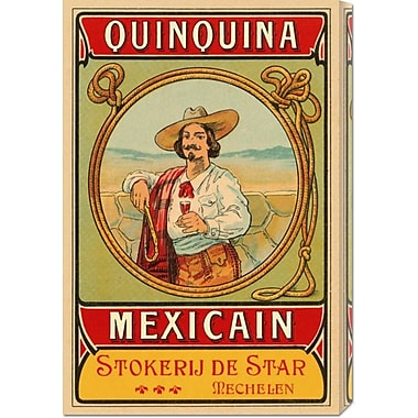 Global Gallery 'Quinquina Mexican' by Retrolabel Vintage Advertisement on Wrapped Canvas