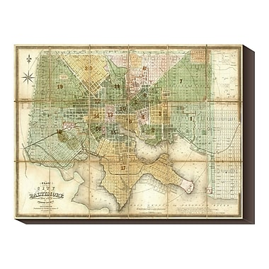 Global Gallery 'Baltimore, Maryland, 1852' by Fielding Lucas Graphic Art on Wrapped Canvas