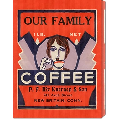 Global Gallery 'Our Family Coffee' by Retrolabel Vintage Advertisement on Wrapped Canvas