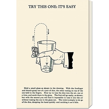 Global Gallery 'Try This One: It's Easy' by Retromagic Vintage Advertisement on Wrapped Canvas