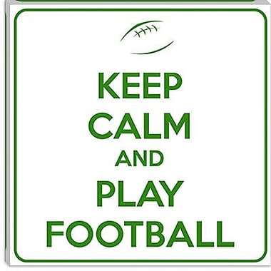iCanvas Keep Calm and Play Football IV Textual Art on Canvas; 37'' H x 37'' W x 1.5'' D