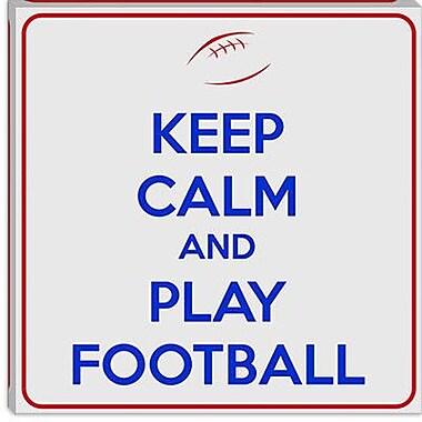 iCanvas Keep Calm and Play Football V Textual Art on Canvas; 12'' H x 12'' W x 1.5'' D