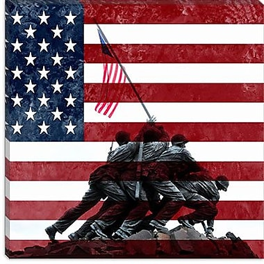 iCanvas Raising the Flag on Iwo Jima, US Constitution Graphic Art on Wrapped Canvas