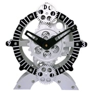 Maples Clock 9'' Moving Gear Desktop Clock