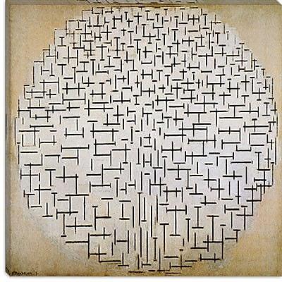 iCanvas ''Pier & Ocean 1915'' by Piet Mondrian Graphic Art on Canvas; 37'' H x 37'' W x 1.5'' D