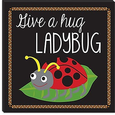 iCanvas ''Ladybug'' by Erin Clark Graphic Art on Canvas; 37'' H x 37'' W x 0.75'' D
