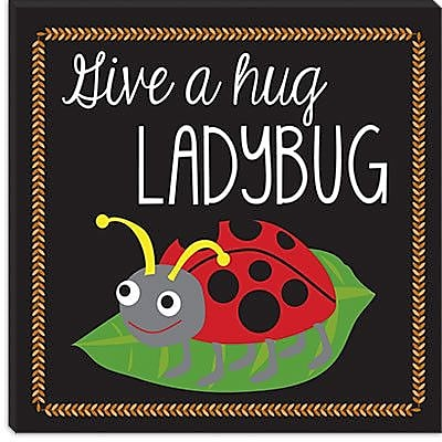 iCanvas ''Ladybug'' by Erin Clark Graphic Art on Canvas; 12'' H x 12'' W x 0.75'' D