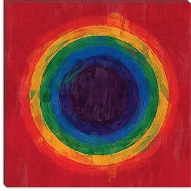 iCanvas Modern Rainbow Tunnel Graphic Art on Canvas; 12'' H x 12'' W x 1.5'' D