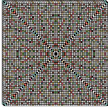 iCanvas Modern Gumball Drops Graphic Art on Canvas; 26'' H x 26'' W x 0.75'' D