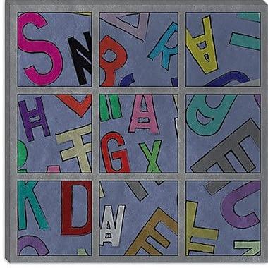 iCanvas Modern Scrambled Textual Art on Canvas; 18'' H x 18'' W x 0.75'' D