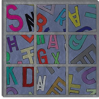 iCanvas Modern Scrambled Textual Art on Canvas; 37'' H x 37'' W x 0.75'' D