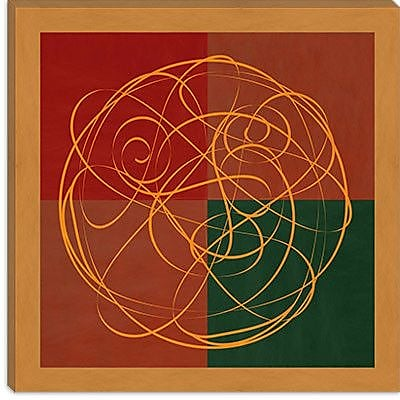 iCanvas Modern Indian Symbolism Luck and Prosperity Graphic Art on Canvas; 37'' H x 37'' W x 1.5'' D
