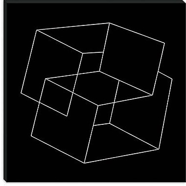 iCanvas Modern Cube Illusion Graphic Art on Canvas; 37'' H x 37'' W x 1.5'' D