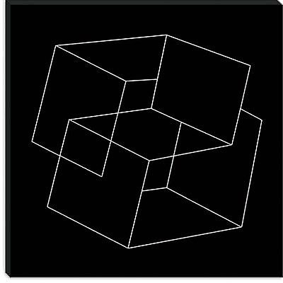 iCanvas Modern Cube Illusion Graphic Art on Canvas; 26'' H x 26'' W x 1.5'' D