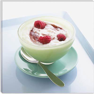 iCanvas Food and Cuisine Raspberry Yogurt Photographic Print on Canvas; 26'' H x 26'' W x 1.5'' D